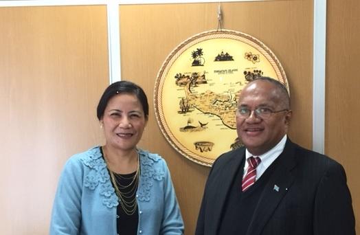 Meeting with HE Ms Tania TUPOU, Ambassador of the Kingdom of