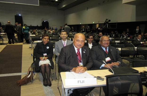 MFA & part of Fiji Delegation at Main Hall