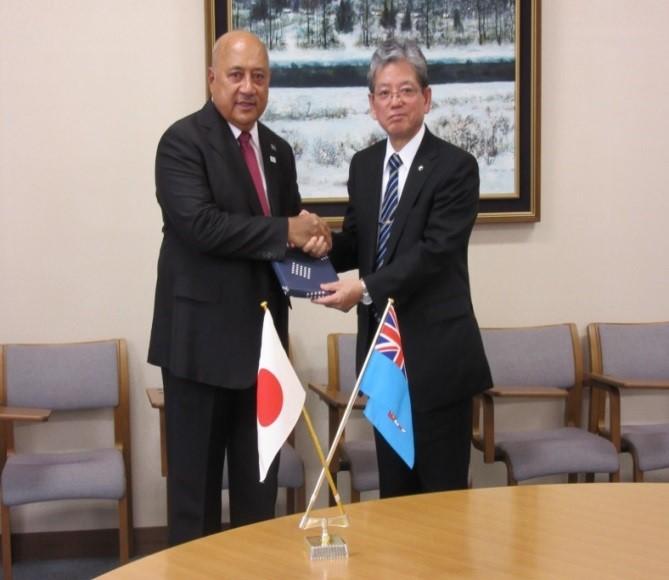 Minister Kubuabola with Dr. Susumu