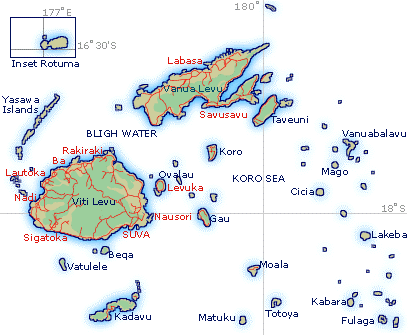 Embassy Of The Republic Of Fiji General Information - Republic of fiji map